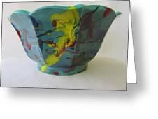 Lotus Bowl Plant Pot Ceramic Greeting Card