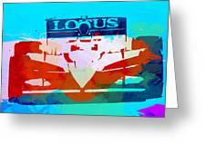 Lotus F1 Racing Greeting Card