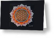Lotus Of Life Greeting Card
