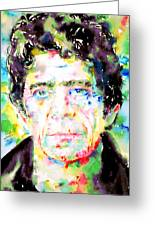 Lou Reed Watercolor Portrait.1 Greeting Card