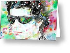 Lou Reed Watercolor Portrait.2 Greeting Card