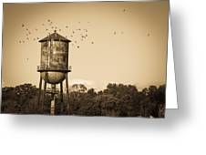 Loudon Water Tower Greeting Card