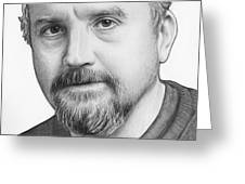 Louis Ck Portrait Greeting Card by Olga Shvartsur