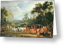 Louis Xiv In His State Coach Greeting Card