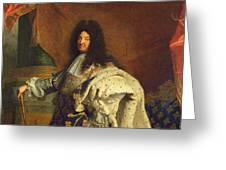 Louis Xiv In Royal Costume, 1701 Oil On Canvas Detail Of 59867 Greeting Card