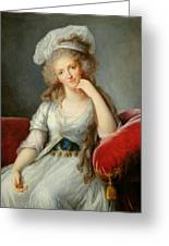 Louise-marie Adelaide, Duchesse Dorleans Oil On Canvas See Also 91622 Greeting Card