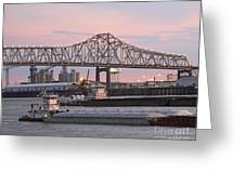 Louisiana Baton Rouge River Commerce Greeting Card