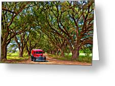 Louisiana Dream Drive  Greeting Card