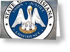 Louisiana State Seal Greeting Card