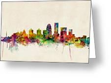 Louisville Kentucky City Skyline Greeting Card
