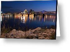 Louisville Rocks At Night Greeting Card