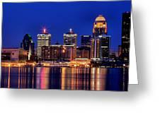Louisville Skyline At Dusk Greeting Card