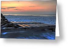 Lounge Closeup On Beach ... Greeting Card