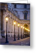Louvre Lampposts Greeting Card