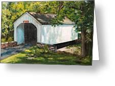 Loux Covered Bridge Bucks County Pa Greeting Card