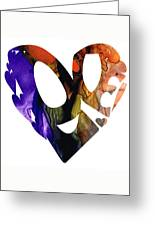 Love 1 - Heart Hearts Romantic Art Greeting Card