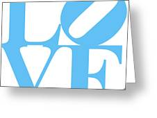 Love 20130707 Blue White Greeting Card