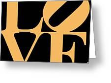 Love 20130707 Orange Black Greeting Card