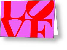 Love 20130707 Red Violet Greeting Card
