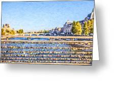 Love Across The Seine Greeting Card