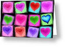 Love All Around  Greeting Card by Cindy Edwards