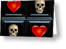 Love And Death Vii Greeting Card