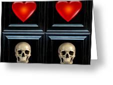 Love And Death Viiii Greeting Card