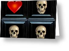 Love And Death Xii Greeting Card