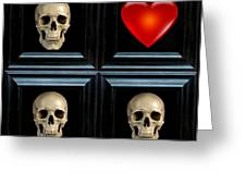 Love And Death Xiv Greeting Card