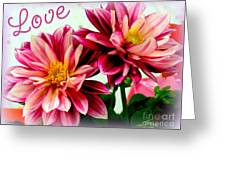 Love And Flowers Greeting Card by Kathy  White