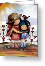 Love And Friendship  Greeting Card by Karin Taylor