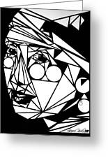 Love And Geometry Greeting Card by Rebecca Tacosa Gray