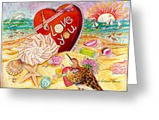 Love At The Beach Greeting Card