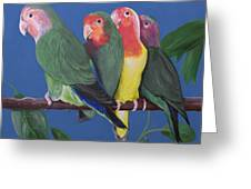 Love Birds Greeting Card by Kathy Weidner