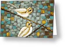 Love Birds- Warm Tone Greeting Card