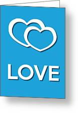 Love Blue Greeting Card