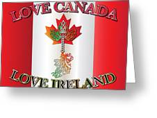 Love Canada Love Ireland16in Greeting Card