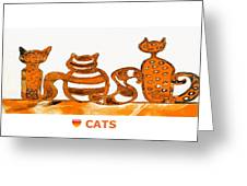 Love Cats 2 Greeting Card