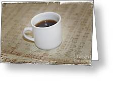 Love Coffee And Music Greeting Card