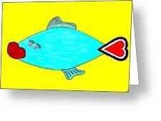 Love-fish Greeting Card