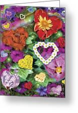 Love Flowers Garden Greeting Card