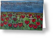 Love For Flanders Fields Poppies Greeting Card