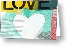 Love Graffiti Style- Print Or Greeting Card Greeting Card by Linda Woods