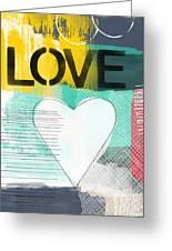 Love Graffiti Style- Print Or Greeting Card Greeting Card