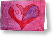 Love Heart 2 Greeting Card