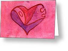 Love Heart 6 Greeting Card
