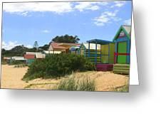 Love Heart Beach Box Greeting Card by Rachael Curry