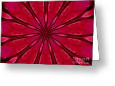 Love In An Orchid Kaleidoscope Greeting Card