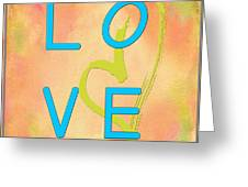 Love In Bright Blue Greeting Card