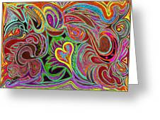 love in every shade of U v7 - love in every shade of blue Greeting Card by Kenneth James